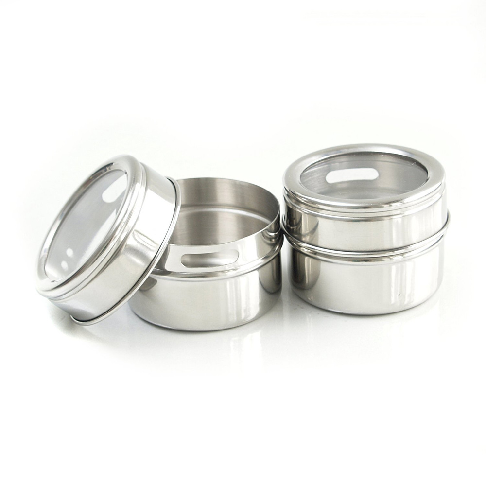 Magnetic Storage Tins/Spice Racks, Set Of 3.5.6..12
