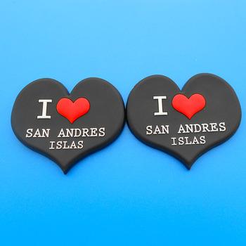 Chất Lượng Cao Tùy Chỉnh 2d I Love San Andres Islas Pvc Mềm Hình Trái Tim  Lưu Niệm Đen Nam Châm Tủ Lạnh - Buy I Love San Andres