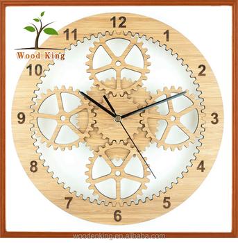 Natural Bamboo Fashion Simple Ideas Quartz Clock Movement Digital ...