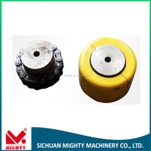 Threaded stainless steel half coupling steel shaft coupling/rigid coupling/rigid steel coupler