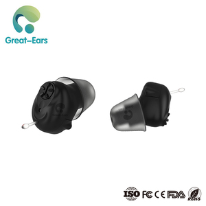 Super cic mini black ear sound hearing aids devices for deaf