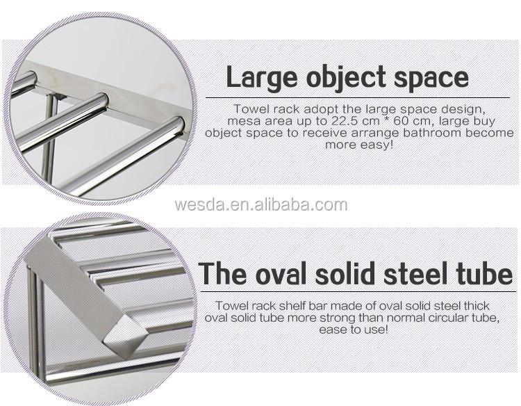 WESDA 가정 용품 좋은 품질의 스테인레스 스틸 유리 욕실 선반 ...