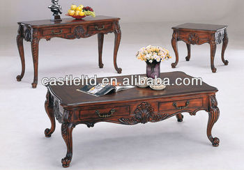 Cf30011 Unique Carved Storage Coffee End Sofa Table With Drawer High Tables Trunk Product