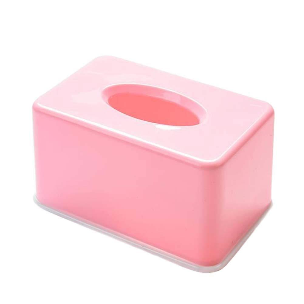 ANQI Facial Tissue Box Cover Holder Rectangular Kleenex Tissue Dispenser Cover Plastic Napkin Holder for Bedroom, Office,Home,Car 2PCS