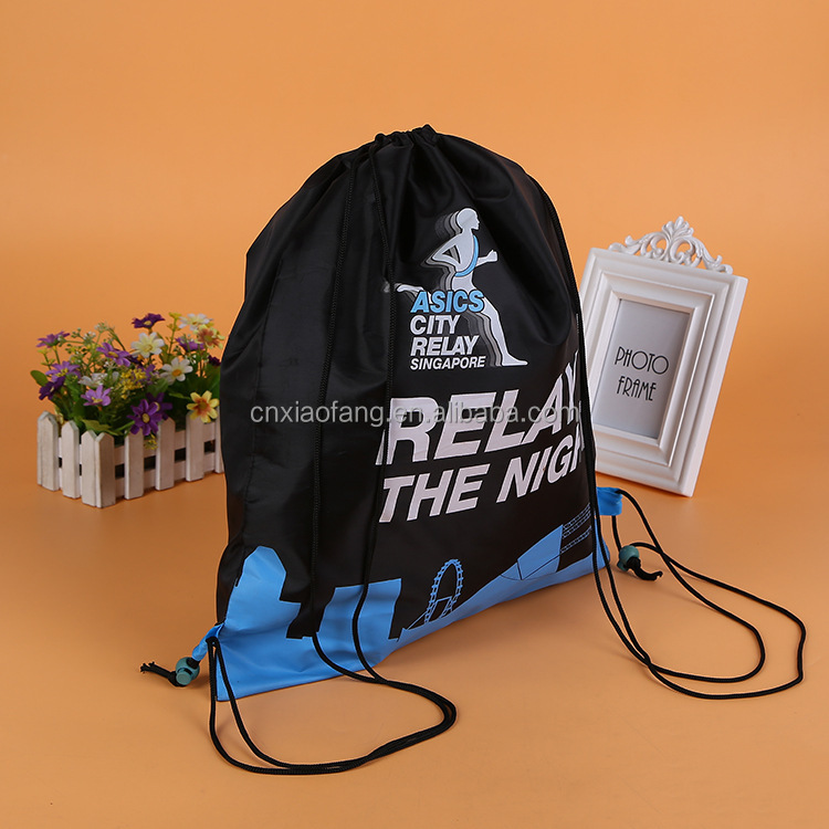Cheap Polyester drawstring promotional Back pack