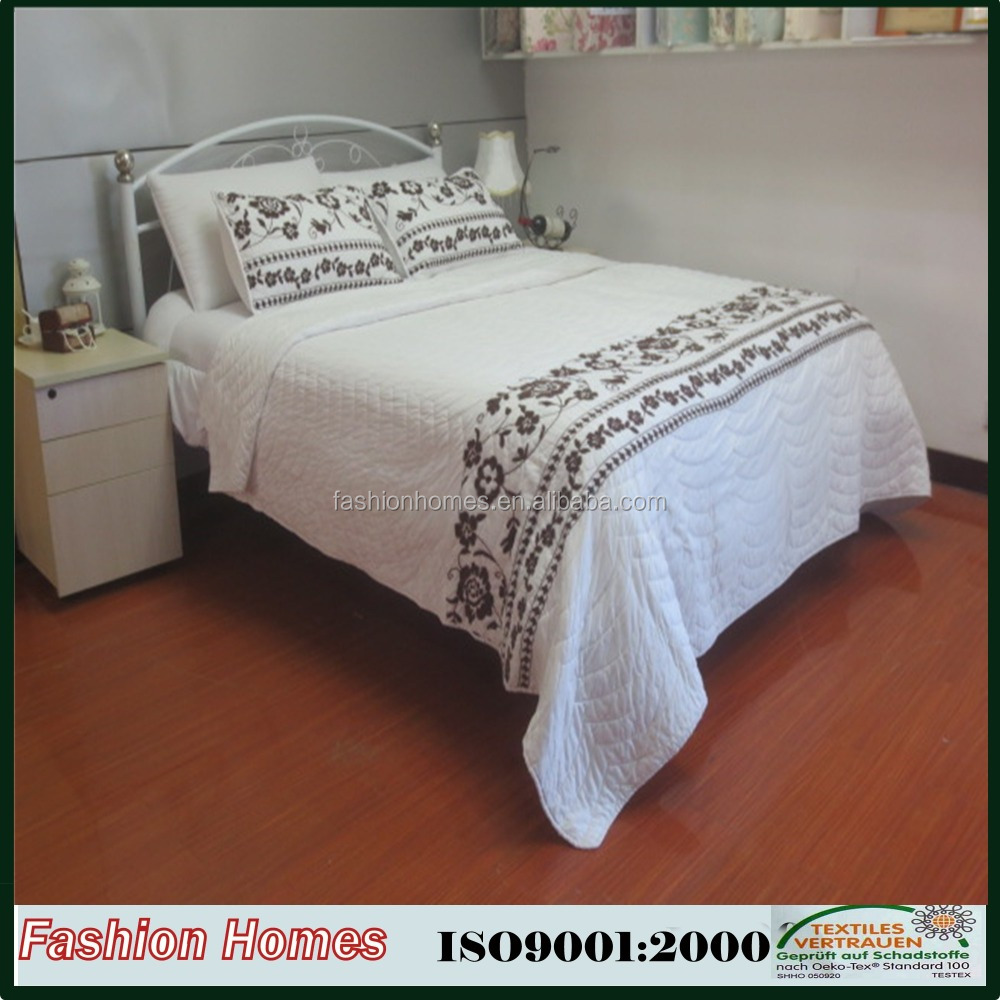 crewel embroidery quilt bedding set thin comforter patchwork microfiber cotton pattern quilt