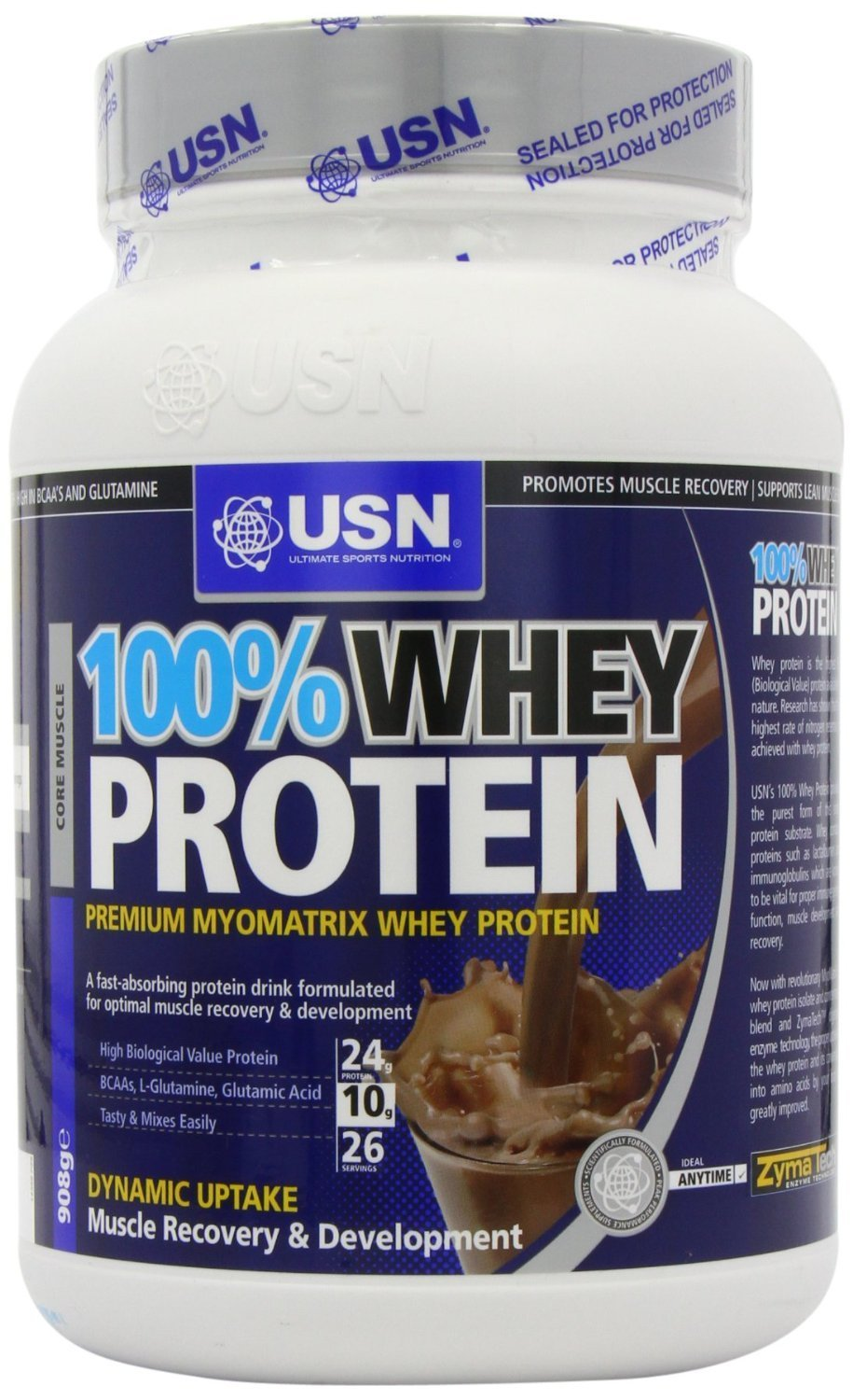 USN 100% Whey Protein - Chocolate (908g) - Pack of 2