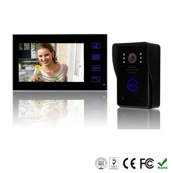 Touch Key waterproof color video door phone system for home VD7WT2