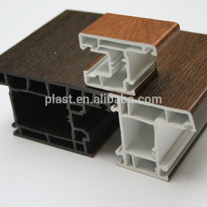 uPVC sliding window frame laminated pvc profiles for window and doors