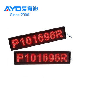 Cheap Price Semi Outdoor P10 RED Color 16 x 96 Pixel LED Scrolling Message Display With WIFI Control Way