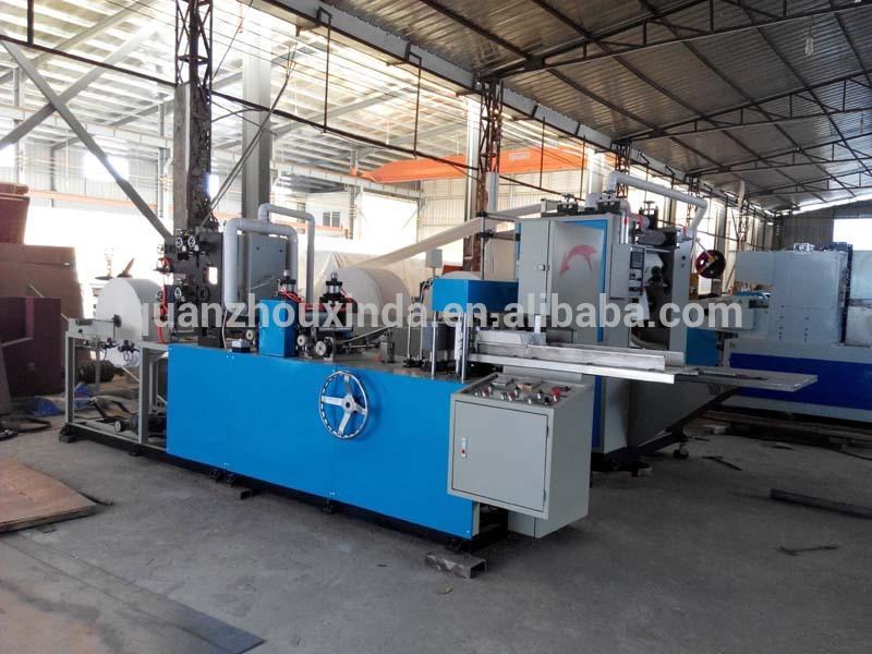 Napkin tissue paper folding machine automatic color - Serviette table tissu ...