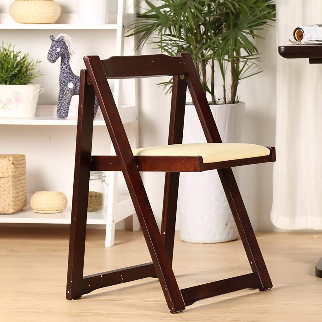 Folding Tables Chair solid wood modern minimalist armchair/adult home desk chair/Nordic dining chair folding chair Reception Chairs (Color : B)