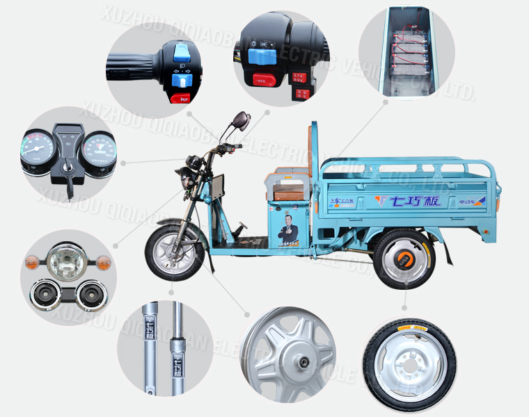Cargo Electric China Tricycle For Adults,Electric Delivery ...