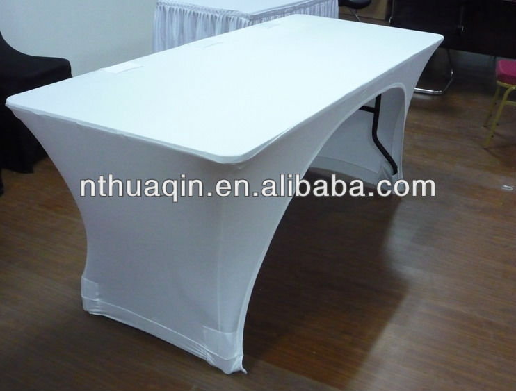 White Spandex Cocktail Table Cover Black Lycra Cocktail Table Cover