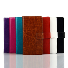 Alibaba Hot selling Money Clip Crazy Horse pattern wallet leather flip cover shockproof bumper case for sony xperia m2