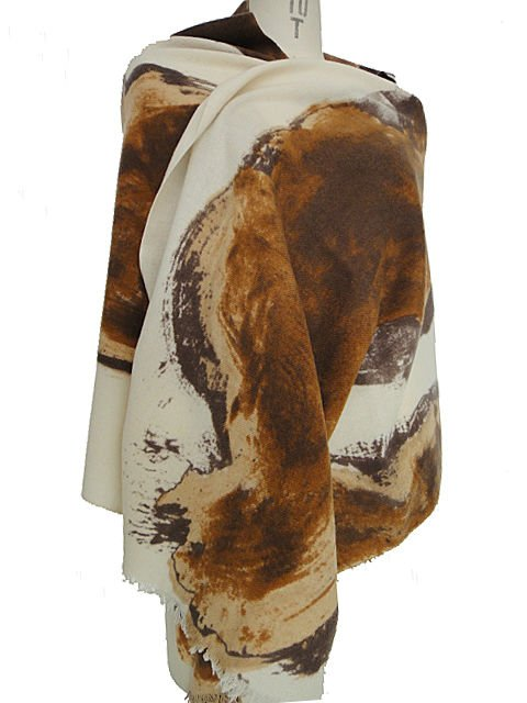 30% cashmere 70% wool printed shawl