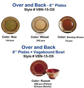 Over and Back - 8'' Plates and Bowls