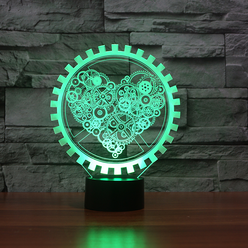 FS-3411 3d illusion led head light baby night light 3d nightlight