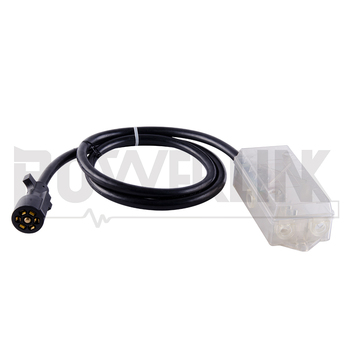 z010019 plk 7-way trailer plug cord with 7-pole wiring junction box-