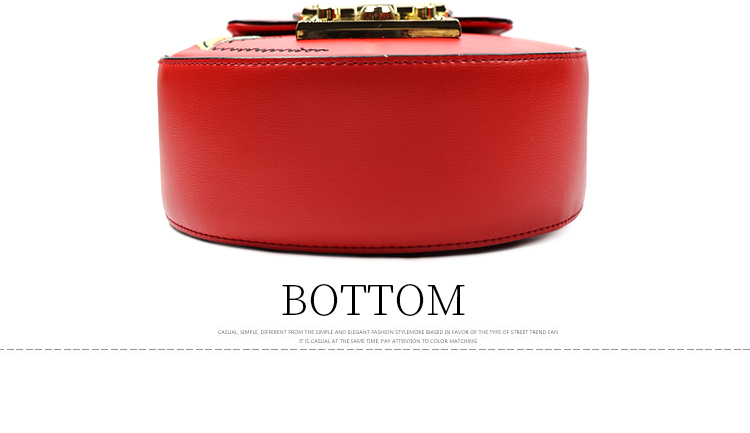 Elegance ladies embroidery bag red color professional women's shoulder dropshipping handbag