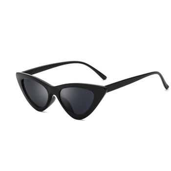 19baac3d9ca2 Cute Sexy Retro Cat Eye Sunglasses Women Small Black White 2018 Triangle  Vintage Cheap Sun Glasses