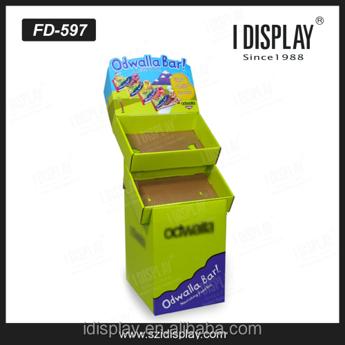 FSDU cardboard corrugated paper snack display stands/racks in the Bar