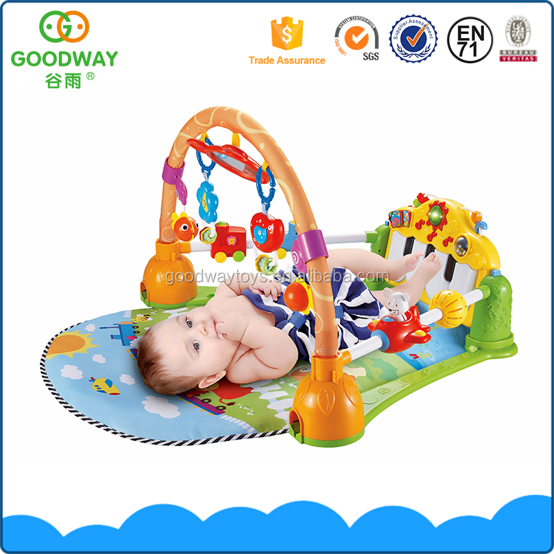 Funny children education mats baby activity play gym mat with music