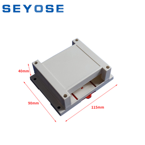 hot sales din rail plastic enclosure for circuit board small PLC device housing electrical junction box 115x90x40mm