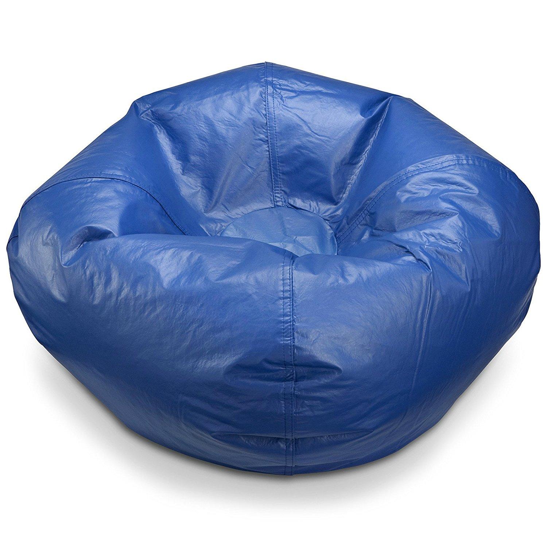 Bean Bag Chair Small Standard Vinyl Cozy Comfort Seating Furniture For Kids  Bedroom Living Room Durable