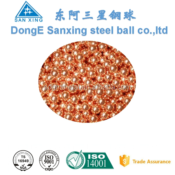 0.5mm to 30 MM G500 C11000 T2 Steel Balls Pure Copper Ball
