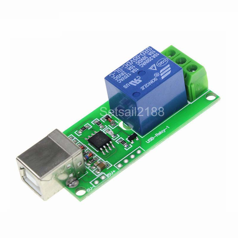 USB Relay 5V 1 Channel Programmable Computer Control Relay For Smart Home New