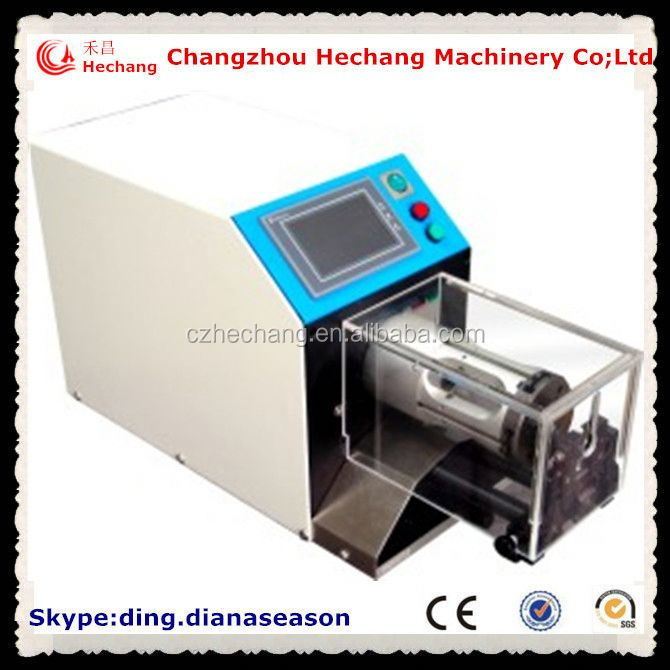automatic coaxial cable microwave coaxial assemblies stripping machine