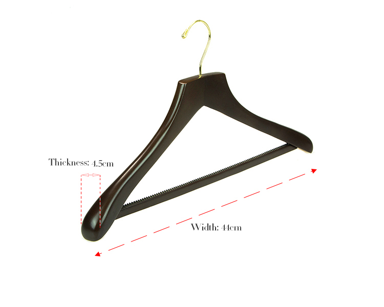 Manufacturer Luxury Branded Wooden Clothes Hanger For Heavy Duty Coat