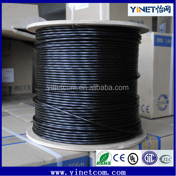 Outdoor water proof Cat 6 UTP pure copper 23awg LAN network cable 1000ft