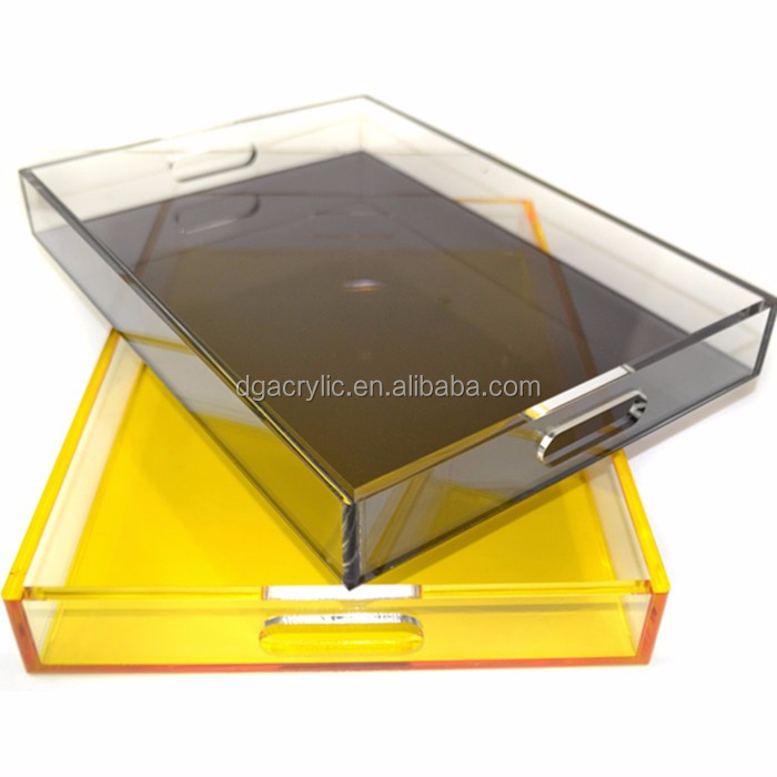 Wholesale custom clear lucite rectangular acrylic tray for Where to buy lucite