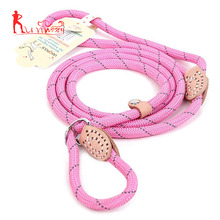 Wholesale reflective dog rope slip lead for small, medium, large dogs