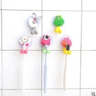 Five-piece [ Pvc ] Creative Lovely Toothbrush Rack PVC Material Toothbrush Holder With Suction Cup
