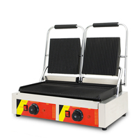 Double panini grill machine in electric grills and electric Griddle