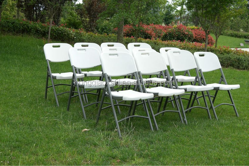 White Garden Folding Chairs Plastic Wedding Party Al Chair China For Outdoor
