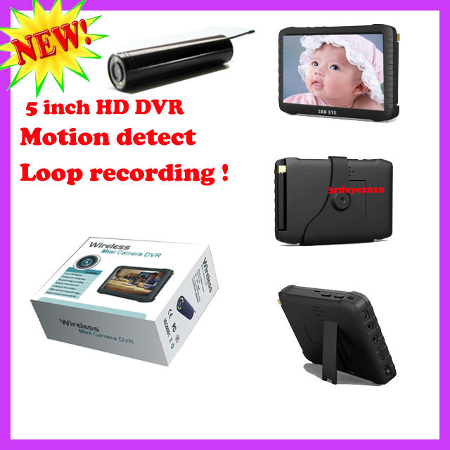 "Wireless HD monitoring and inspection Camera with 5"" Mini portable DVR"
