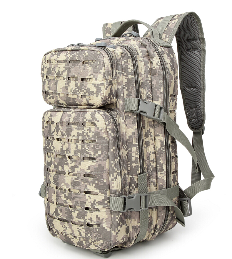 Laser Cut Molle PALS System EDC Back Pack Camouflage Tactical Military Backpack