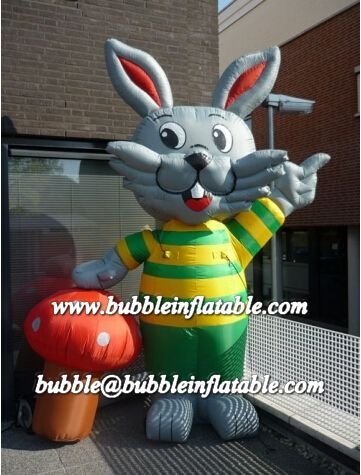 lovely inflatable rabbit/hot sale PVC inflatable rabbit model