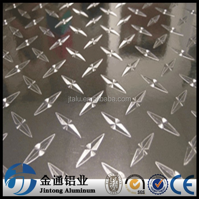 anti-skip bright finish aluminum trailer flooring