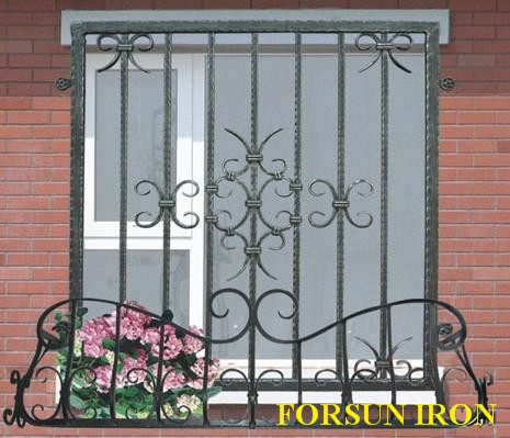 Modern iron steel metal window grill design factory buy for Modern zen window grills design