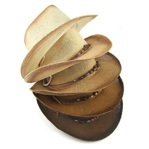 1b2f4d45cc9 China Manufacturer Men s Sun Color Gradient Painting Craft Paper Straw  Western Cowboy Panama Hats