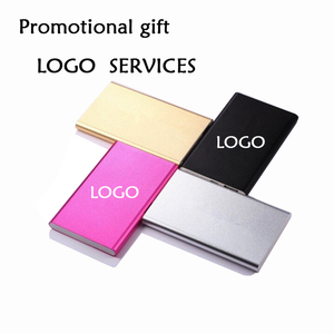 Unique Logo customized business gift set ideas External Battery Portable power bank gifts