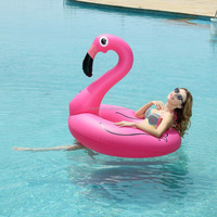 Hotcakes Inflatable Flamingo Swim Ring Pool Float Cool Water Tow Tube Toys for Adult