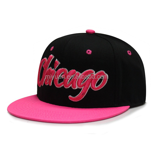 2016 New Designed Chicago Hot Sell Custom Trukfit Flexible Cotton Spandex Snapback Caps And Hats with flat brim