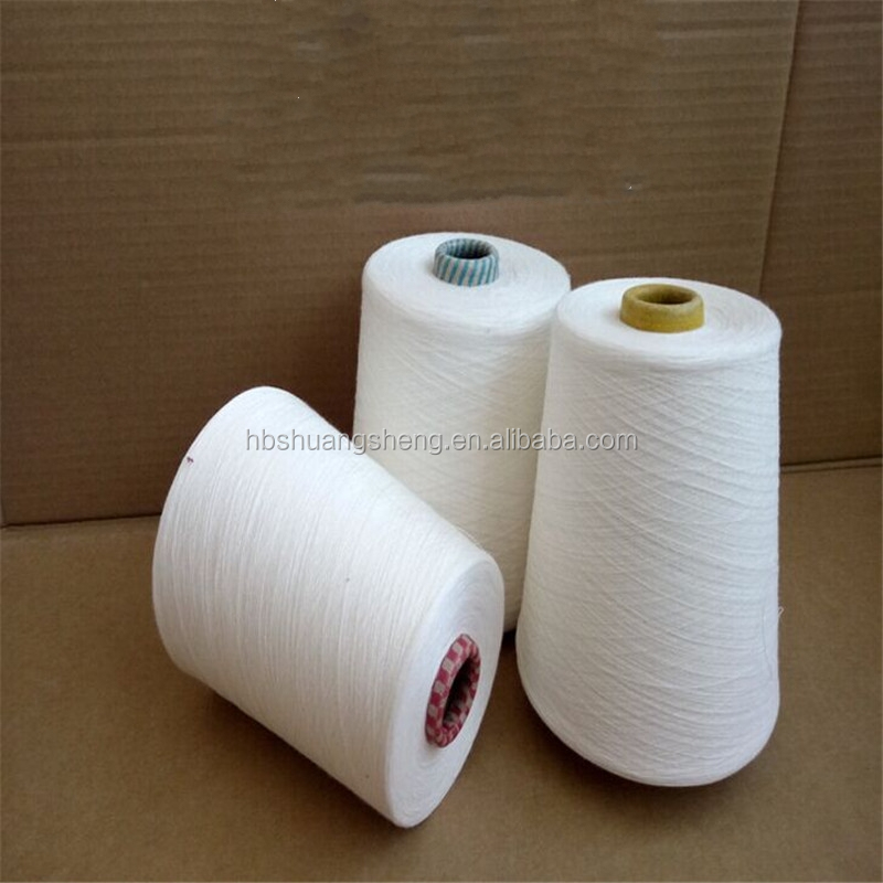Raw white 20s 30s virgin spun yarn / 100 polyester virgin yarn / polyester spun yarn