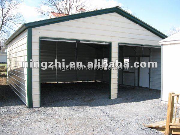 double voiture m tal garages cadre en acier kit. Black Bedroom Furniture Sets. Home Design Ideas